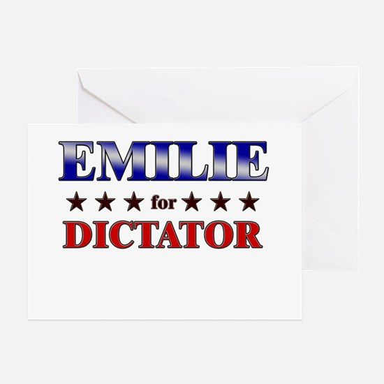 EMILIE for dictator Greeting Card