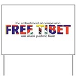 For a Free Tibet Yard Sign
