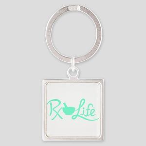 Aqua Rx Life Square Keychain