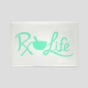 Aqua Rx Life Rectangle Magnet