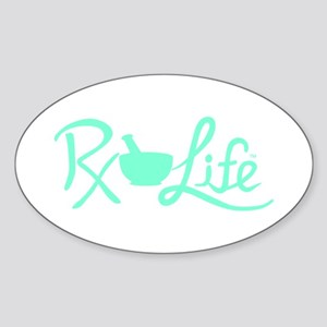 Aqua Rx Life Sticker (Oval)