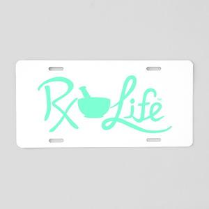 Aqua Rx Life Aluminum License Plate