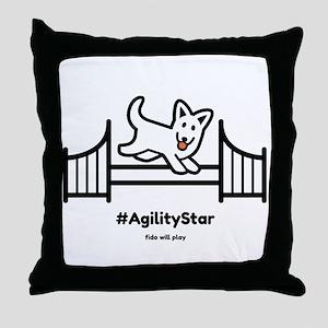 Agility Star Throw Pillow