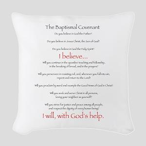 Baptismalcovenant Woven Throw Pillow