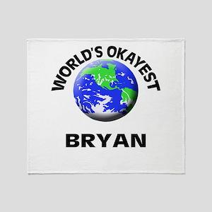 World's Okayest Bryan Throw Blanket