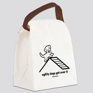 Agility Dogs Get Over It Canvas Lunch Bag
