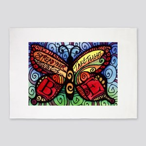 Spread Your Wings Butterfly 5'x7'Area Rug
