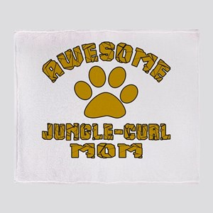 Awesome Jungle-curl Mom Designs Throw Blanket