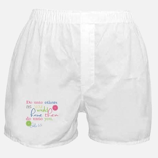 luke 6:31 do unto others mug shirt de Boxer Shorts