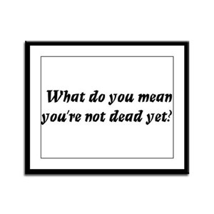 What do you mean, you're not Framed Panel Print