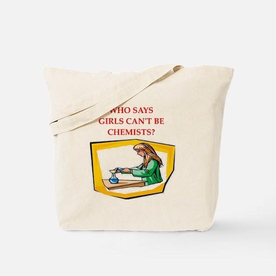 Girl scientist Tote Bag