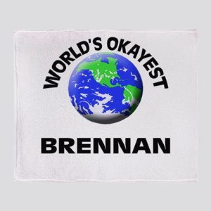 World's Okayest Brennan Throw Blanket
