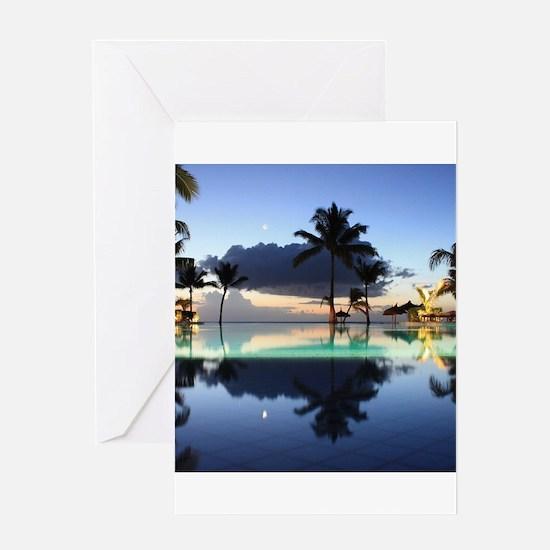 Mauritius Sunset Greeting Cards