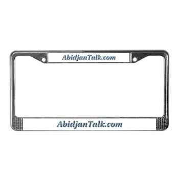 AbidjanTalk License Plate Frame