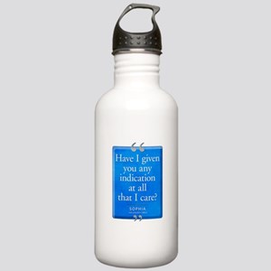 Any Indication I Care Quote Stainless Water Bottle