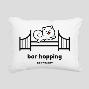 Agility Bar Hopping Rectangular Canvas Pillow