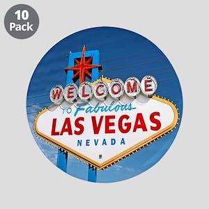 """Las Vegas Sign - 3.5"""" Button (10 pack)"""
