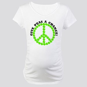 Give Peas A Chance Maternity T-Shirt