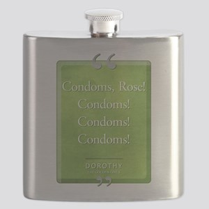 Condoms Rose! Quote Flask