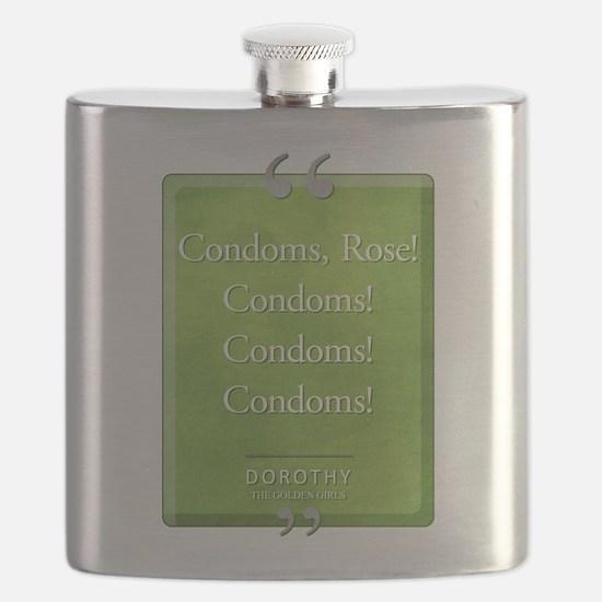 Condoms Rose! Quote Flask
