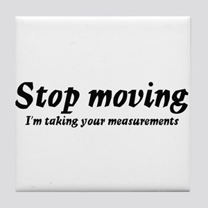 Taking measurments Tile Coaster