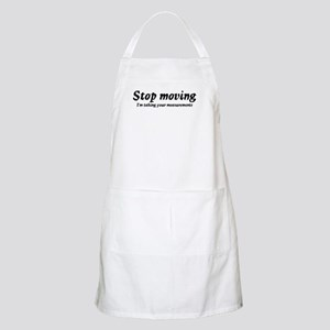 Taking measurments BBQ Apron