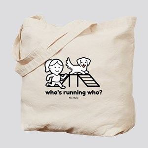 Agility Who's Running Who Tote Bag