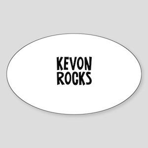 Kevon Rocks Oval Sticker