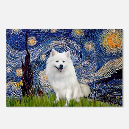 Starry-Am. Eskimo Dog Postcards (Package of 8)