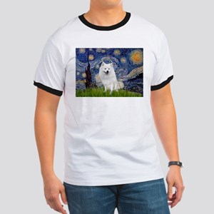 Starry-Am. Eskimo Dog Ringer T