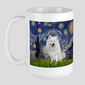 Starry-Am. Eskimo Dog Large Mug