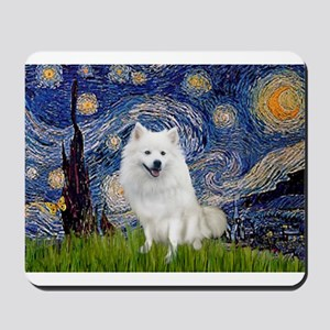 Starry-Am. Eskimo Dog Mousepad