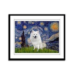 Starry-Am. Eskimo Dog Framed Panel Print