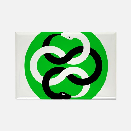 Double Oroborous (Green) Magnets