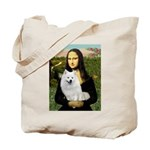MonaLisa-AmEskimoDog Tote Bag