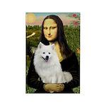 MonaLisa-AmEskimoDog Rectangle Magnet (10 pack)