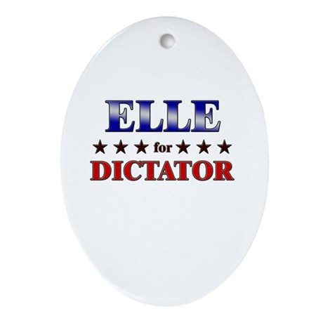 ELLE for dictator Oval Ornament