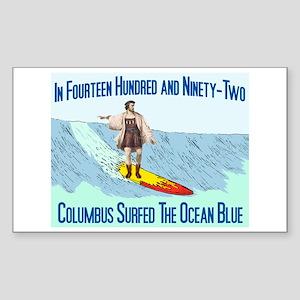 columbus surfed 2 Rectangle Sticker