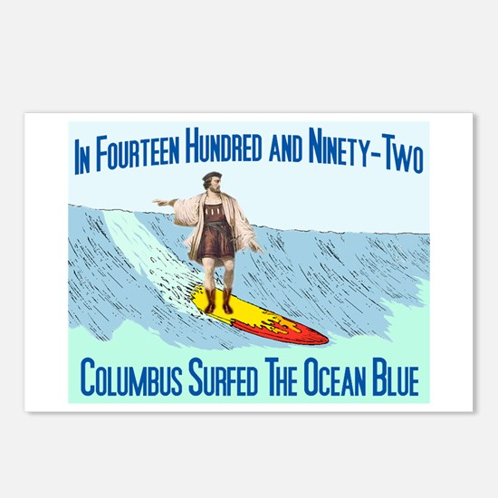 columbus surfed 2 Postcards (Package of 8)