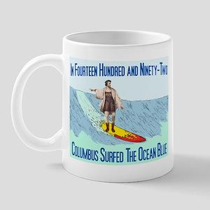 columbus surfed 2 Mug