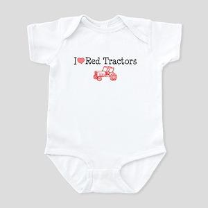 I Love Red Tractors Infant Bodysuit