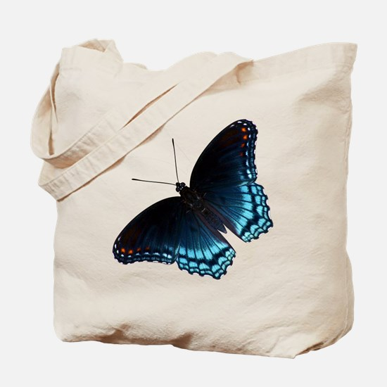 Red Spotted Purple Butterfly Tote Bag