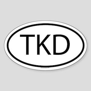 TKD Oval Sticker
