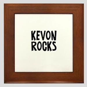 Kevon Rocks Framed Tile