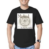 Archangel michael Fitted T-shirts