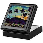 Palm Springs California Inlaid Tile Box