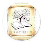 Storyteller Round Car Magnet