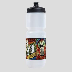 Sugar Skulls Mug Wrap Around Sports Bottle