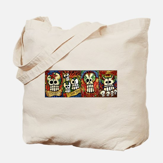 Sugar Skulls Mug Wrap Around.jpg Tote Bag