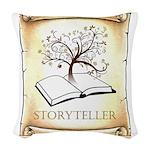 Storyteller Woven Throw Pillow